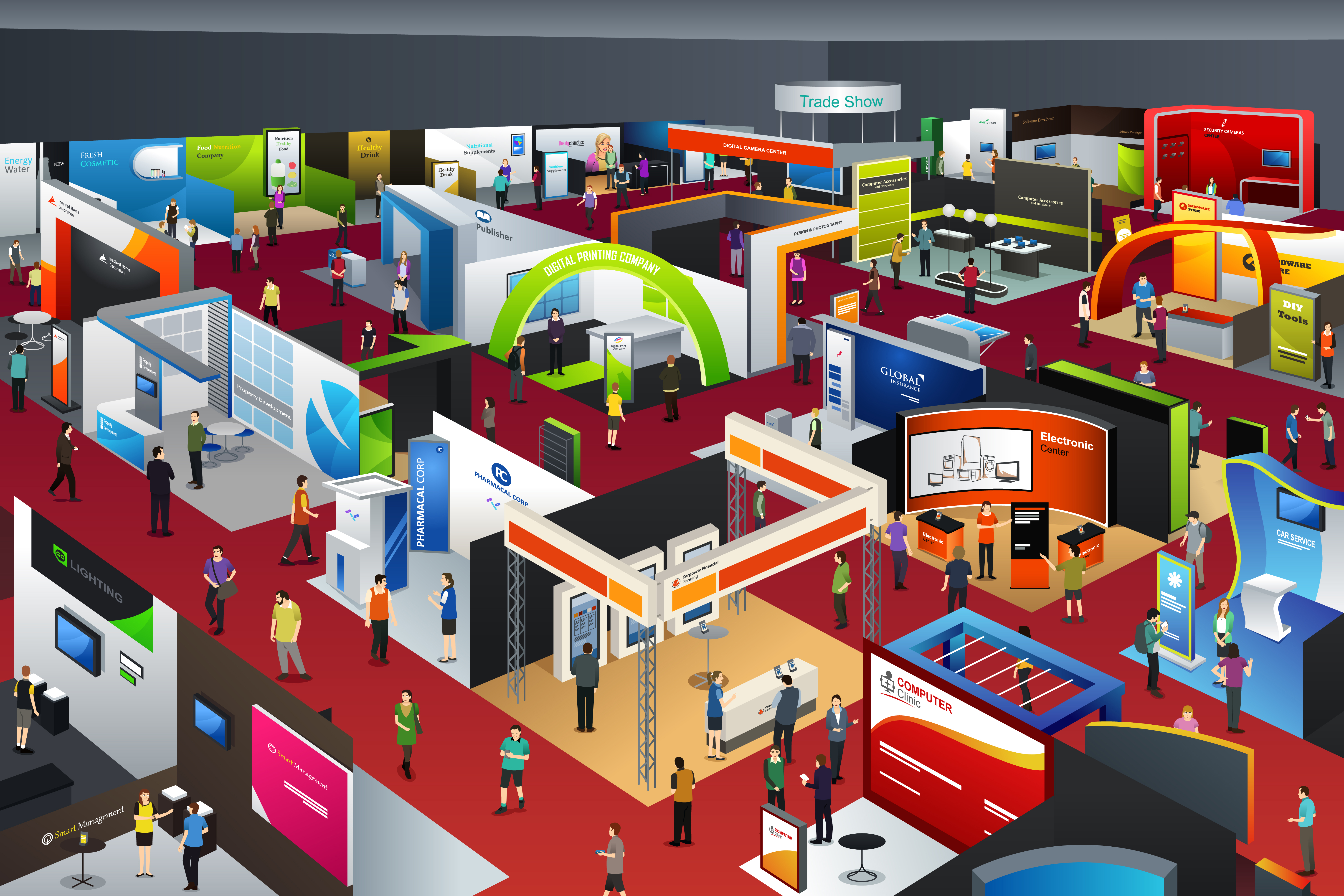 Trade show conference floor