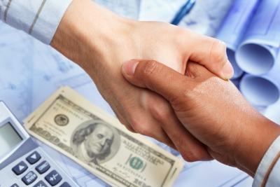 Funding partnership handshake