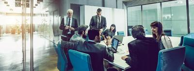 Successful businessmen meeting